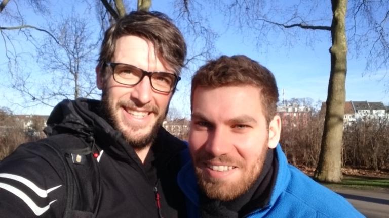 Christoph und ich bei unserem Kennenlernen in Köln