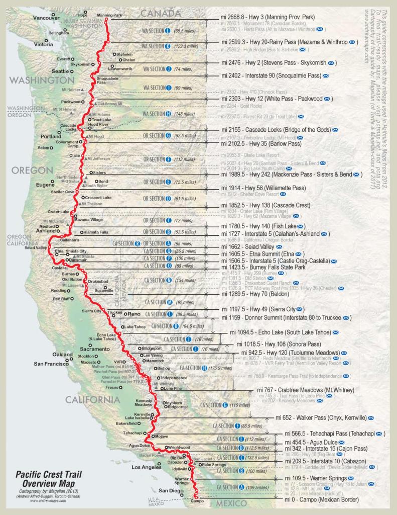 Pacific Crest Trail - PCT Überblick - WanderVeg Spezial